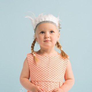 SALE◆【Meri Meri】白い羽根でデザインされたフェザークラウン【王冠 フェザー クラウン プリンセス 主役 キッズ】(45-2091)
