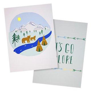 【Meri Meri メリメリ】Let's Explore Art Prints ポスター クマ アート 絵 イラスト art 高級紙 2枚入り(30-0072) ◆SALE