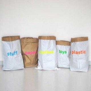 【kolor カラー】paper storage bag ペーパーストレージバッグ 【英字】【子供部屋・リビング収納 おもちゃ箱  キッズルーム おしゃれな紙袋】カラフル ペーパーバッグ