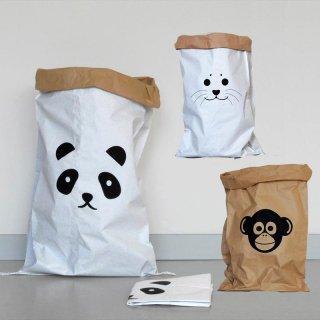 【kolor カラー】paper storage bag ペーパーストレージバッグ 【アニマルイラスト】【子供部屋・リビング収納 おもちゃ箱  キッズルーム おしゃれな紙袋】ペーパーバッグ