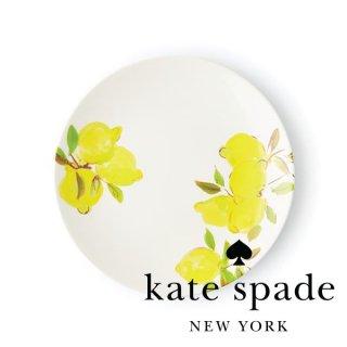 【Kate Spade ケイトスペード】Lemon Salad Accent Plate レモン柄 サラダプレート 23cm プレート メラミン食器 お皿(176430)