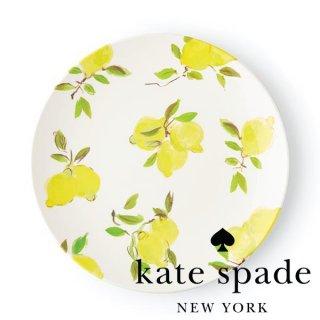【Kate Spade ケイトスペード】Lemon Dinner Plate レモン柄 ディナープレート 29cm プレート メラミン食器 お皿 大皿 大きい(176530)