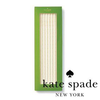 【Kate Spade ケイトスペード】Straw Set Gold Dotsアクリルストロー 6本入り 21.5cm (177939) ◆SALE