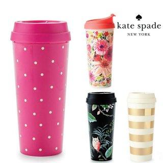 SALE◆【Kate Spade ケイトスペード】タンブラー サーマルマグ  Larabee Dot Pink【ピンク ホットピンク サーモマグ マグボトル マグ 水筒 】(164959)