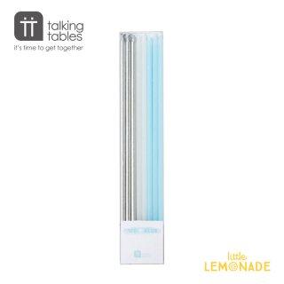 【Talking Tables】ロング キャンドルセット/ブルー・ホワイト・シルバー(BLUE2-CANDLES) トーキングテーブルス