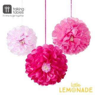 【Talking Tables】フラワーポンポン/ピンクミックス(DDGDN-POMFLOWER-PK) トーキングテーブルス