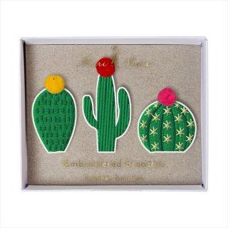 【Meri Meri メリメリ】刺繍ブローチ 【Cactus・カクタス・サボテン】