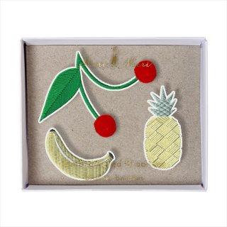 【Meri Meri メリメリ】刺繍ブローチ 【Fruit・フルーツ・果物】