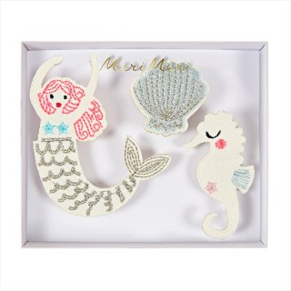 【Meri Meri メリメリ】刺繍ブローチ 【Mermaid・マーメイド・人魚】