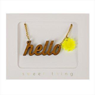 【Meri Meri メリメリ】ネックレス 【HELLO・太陽】