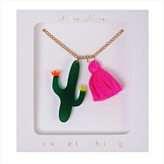 【Meri Meri メリメリ】ネックレス 【Cactus・カクタス・サボテン・タッセル付】