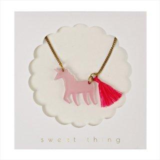 【Meri Meri メリメリ】ネックレス 【Pink Unicorn・ユニコーン・タッセル付】