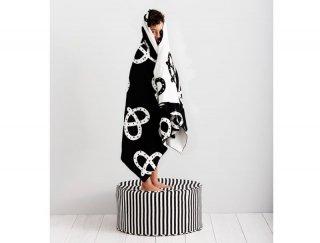SALE◆【SACK ME サックミー】プレッツェル柄ブランケット モノトーン Pretzel Blanket - Mono ブランケット 【黒 白 ブラック ホワイト】
