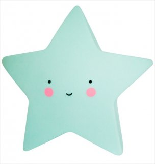 【a little lovely company】ミント スター ライト【おほしさまの形のライト】子供部屋 インテリア 照明 ライティング star light