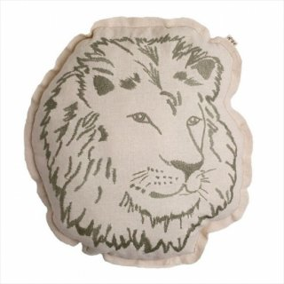 【Numero74 ヌメロ】アニマル刺繍クッション【ライオン】 ◆SALE