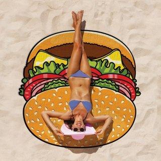 直径150cm【ビーチブランケット ハンバーガー】 ◆SALE