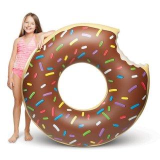 ビッグサイズ プールフロート チョコドーナツ 浮き輪