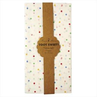 【Meri Meri メリメリ】紙製テーブルカバー マルチカラードット柄 【TOOT SWEET】 (45-0871)