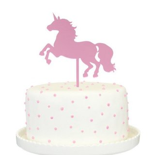 【Alexis Mattox Design】【ケーキトッパー】ピンク ユニコーン アクリル ミラー仕上げ 【ケーキ用飾り】cake topper (PCT32)