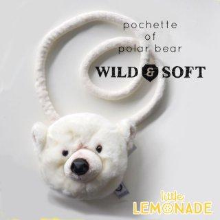 【Wild&Soft ワイルドソフト】シロクマのポーチ ポシェット キッズサイズ しろくま【プレゼントやギフトに】(WS040)