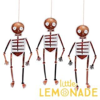 【Meri Meri】がいこつのハンギングデコレーション スケルトン ハロウィンパーティー 飾り付け 骸骨(45-2943)
