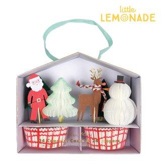 【Meri Meri クリスマス】サンタクロース、トナカイ、クリスマスツリーのピック&ケースキット(45-2951)