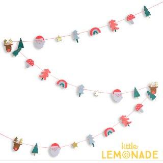 【Meri Meriクリスマス】サンタ・トナカイ・キノコ・森の ミニガーランド (45-3081)