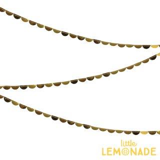 【Meri Meriクリスマス】ちいさなゴールドの半円型スプール ペーパーガーランド(45-3077)