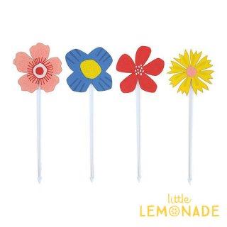 【Alexis Mattox Design】お花イラストのフードピック【テーブルウェア 料理の装飾に デコレーション ピック パーティーピック フラワー】 (FPK09)