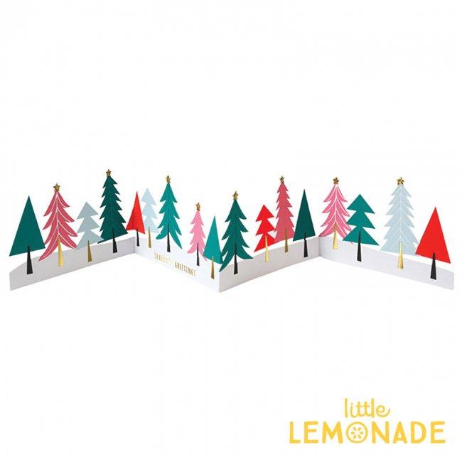 【Meri Meri】カラフル クリスマスツリーのグリーティングカード バナーになる【クリスマス ギフトカード グリーティングカード 】 (42-0083)