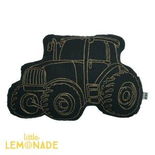 【Numero74 ヌメロ】トラクター刺繍クッション【tractor・車】(NU728) ◆SALE