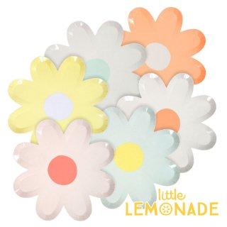 【Meri Meri メリメリ】お花のパーティープレート お花型のペーパープレート フラワー 春 女の子 お祝い イースター】(45-3246)