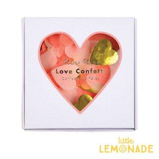 【Meri Meri メリメリ】ハートのコンフェッティボックス LOVE Confetti ピンク ゴールド  (45-3125)◆SALE