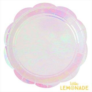 【illume partyware】イリディセント ピンクの直径23cmペーパープレート 10枚入り(ID-LPLATE-038)