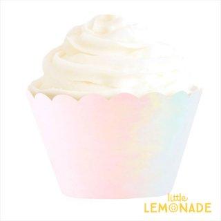 【illume partyware】イリディセント ピンクのカップケーキラッパー カバー 12枚入り(ID-CCWRAP-F-038)