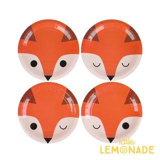 【my little day マイリトルデイ】mini fox キツネ柄のスモールペーパープレート 8枚入り  4柄【誕生日 お祝い 紙皿】(MLD-ASMINIFOX)