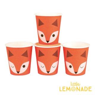 SALE◆【my little day マイリトルデイ】mini fox キツネ柄のペーパーカップ 8個入り  4柄【誕生日 お祝い 紙コップ】(MLD-GOMINIFOX)