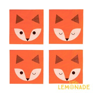 【my little day マイリトルデイ】mini fox キツネ柄のペーパーナプキン 20枚入り 4柄【ペーパータオル 紙ナプキン】(MLD-SEMINIFOX)
