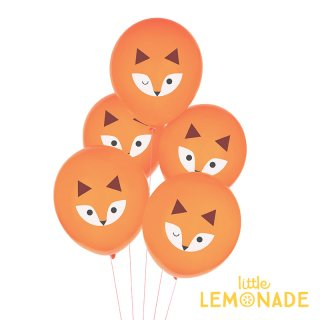 【my little day マイリトルデイ】mini fox キツネ柄ゴム風船 5枚セット バルーン【きつね 誕生日 装飾 BALLOON】(MLD-BATATMINI)