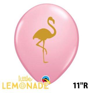 ◇11インチ・28cm◇【風船】【ばら売り】パーティーバルーン ピンクフラミンゴ ピンク ゴールド