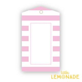 【SAMBELLINA】【ギフトタグ 12枚入り 】ピンク ストライプ メッセージタグ Gift Tag Pink Stripe  (SMG024)