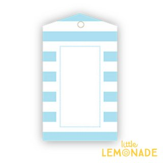 【SAMBELLINA】【ギフトタグ 12枚入り 】ライトブルー ストライプ メッセージタグ Gift Tag Light Blue  Stripe  (SMG025)