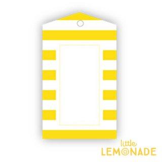 【SAMBELLINA】【ギフトタグ 12枚入り 】イエロー ストライプ メッセージタグ Gift Tag Yellow Stripe  (SMG035)