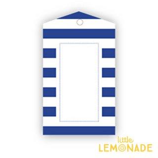 【SAMBELLINA】【ギフトタグ 12枚入り 】ネイビーブルーストライプ メッセージタグ Gift Tag Navy Stripe  (SMG036)