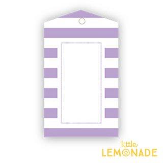【SAMBELLINA】【ギフトタグ 12枚入り 】ライトパープル ストライプ メッセージタグ Gift Tag Lavender Stripe ラベンダー (SMG037)