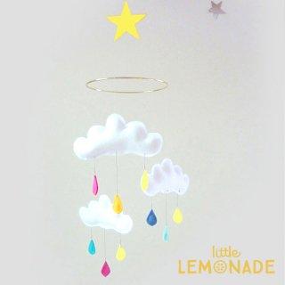 【 the butter flying 】 雲のモビール  Rainbow 【ザ バター フライング】 インテリア クラウドモビール レインボー 子供部屋 ベビー雑貨