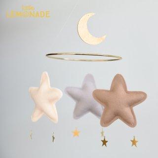 【 the butter flying 】Mario MASHROOM お星さまとお月さまのフェルトのモビール【Moon&Star Mobile ザ バター フライング】