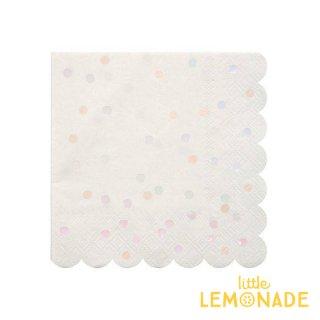 【Meri Meri】イリディセント ドット ペーパーナプキン 16枚入り Iridescent Spotted Foil Paper Napkin(45-3017)