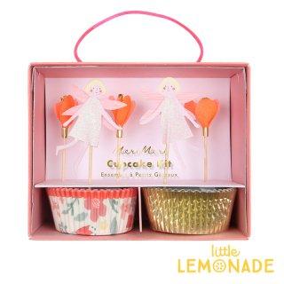 【Meri Meri】 フェアリーカップケーキキット 妖精&花のピックとベーキングカップのセット 誕生日 お祝い テーブルコーディネート 製菓 マフィン(45-3355/169921)