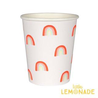 【Meri Meri】 レインボー ペーパーカップ 12個入り 紙カップ 虹 紙コップ パーティー ホームパーティー 誕生日 バースデイ テーブルウェア(45-3561/174772)